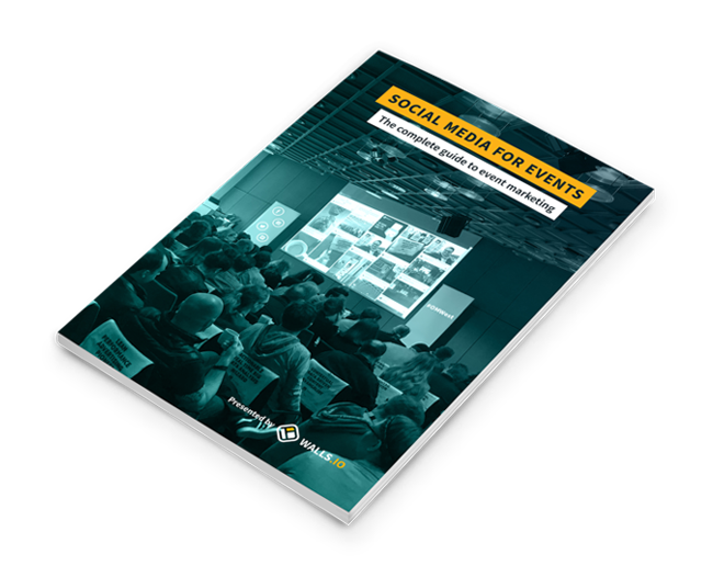 cover of the social media for events ebook. The complete guide to event marketing