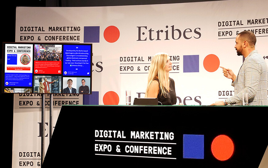 Social Media for news and entertainment event social walls