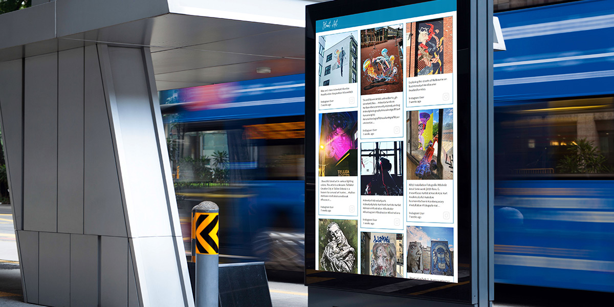 digital signage solutions for social media walls
