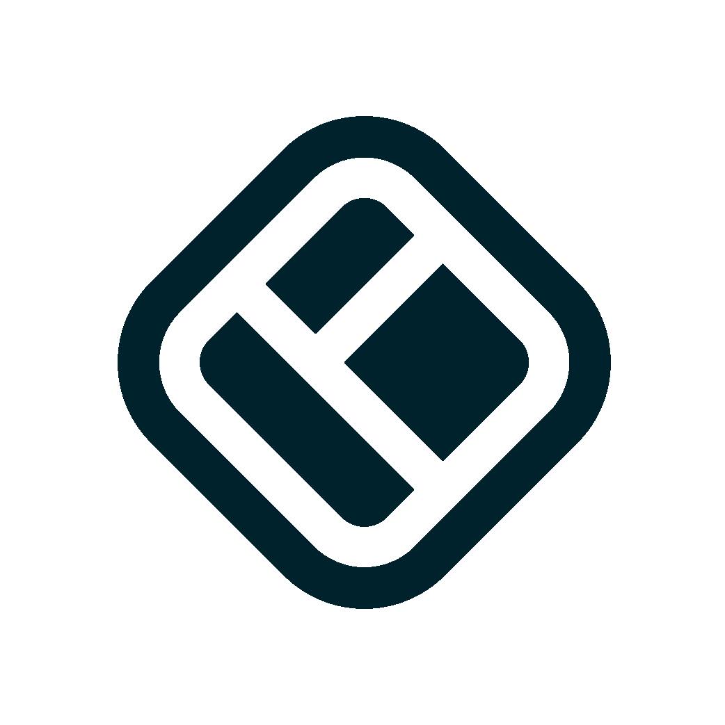 Walls.io logo icon monochrome  light background