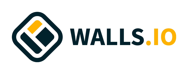 Walls.io logo light background