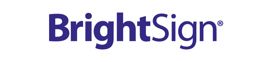 brightsign digital signage solution social media integration