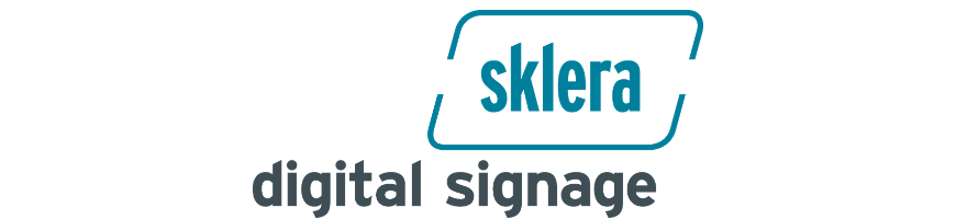 sklera digital signage solution social media integration