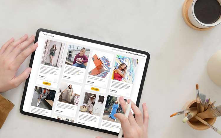 fashion social media feed embed on website