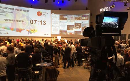 live twitter feed at BMW Group event