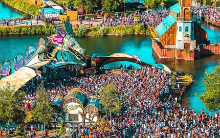 Tomorrowland event setup