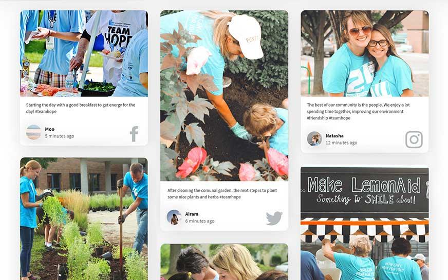 social media for nonprofits social wall