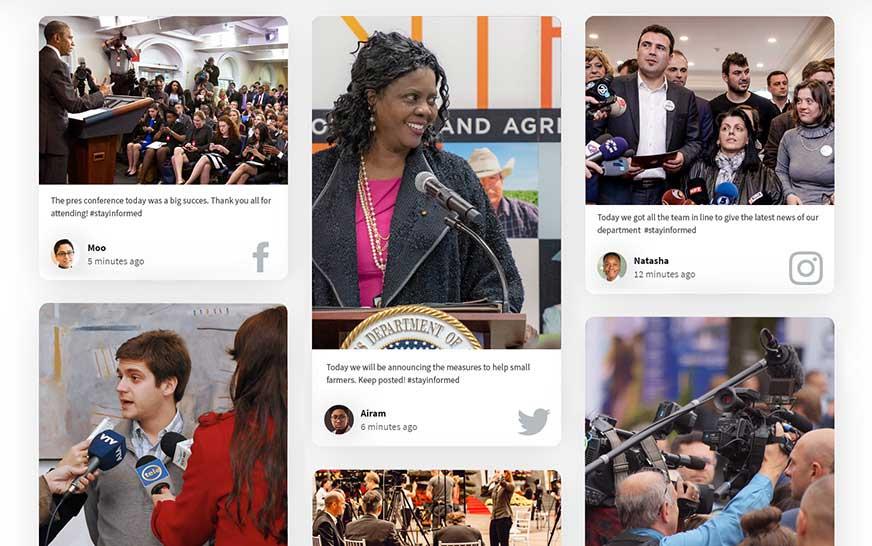 Social media for government social wall