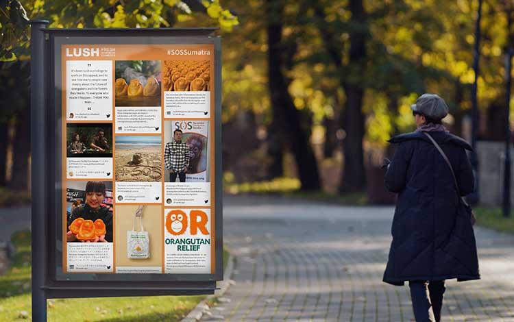 social media feed for ecommerce brands digital signage