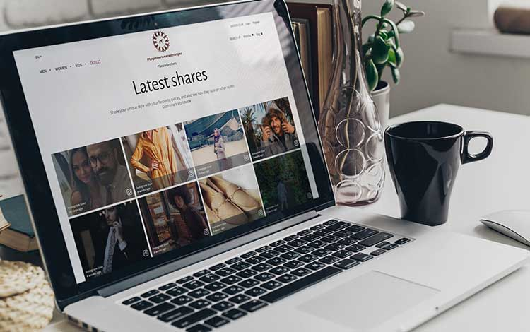 social media feed for ecommerce website