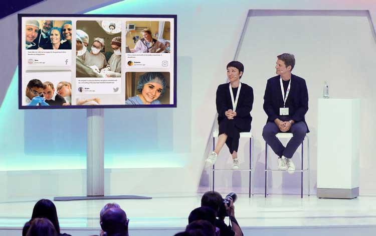 social media for healthcare event social walls