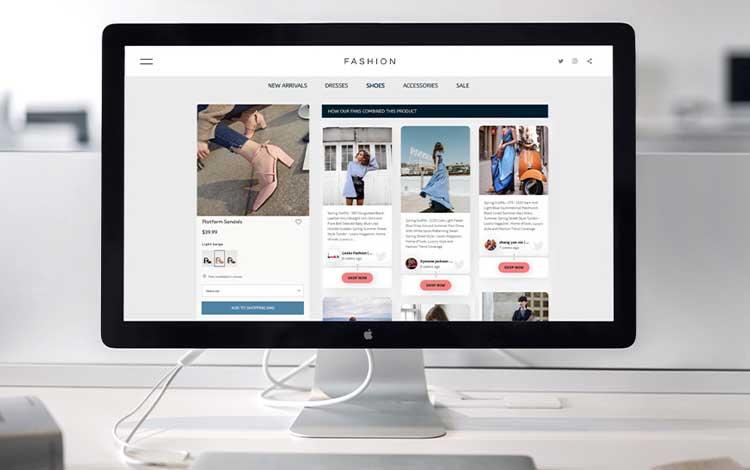 Social Media in Retail Website Social Wall Embed