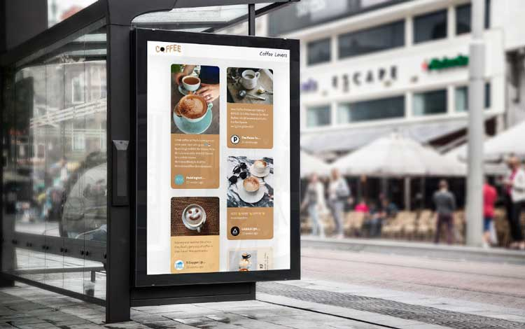 Social Media in Retail Physical Social Wall Displays