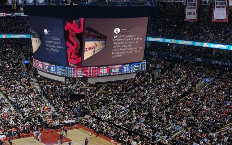 sports event social media walls