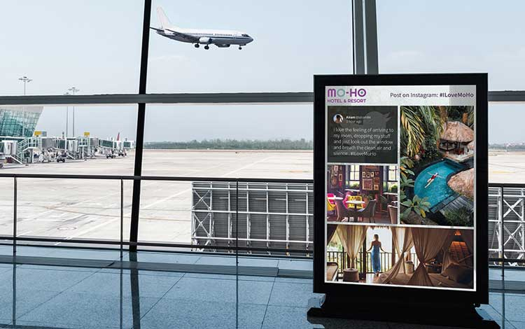 Social media for hospitality and tourism digital signage social walls