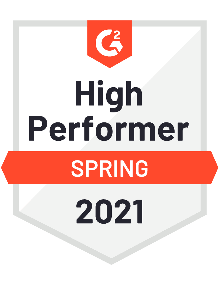 G2High Performer Spring 2021 Badge