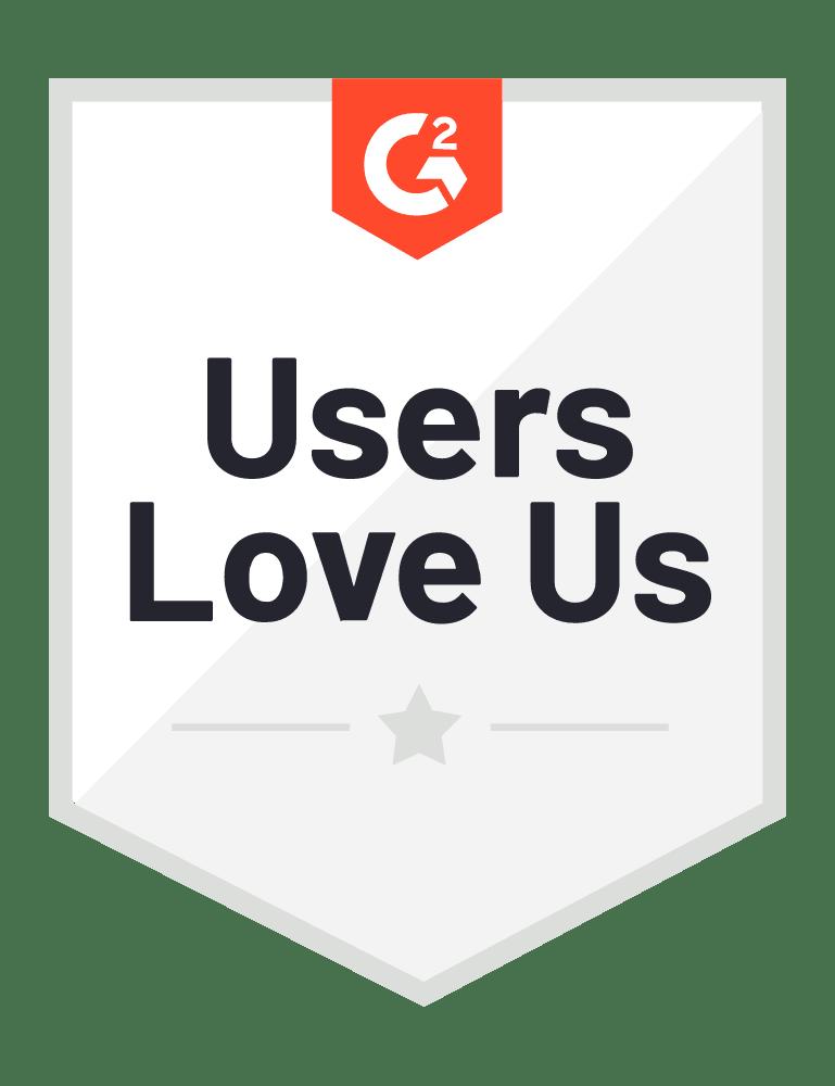 Badge G2 Users Love Us