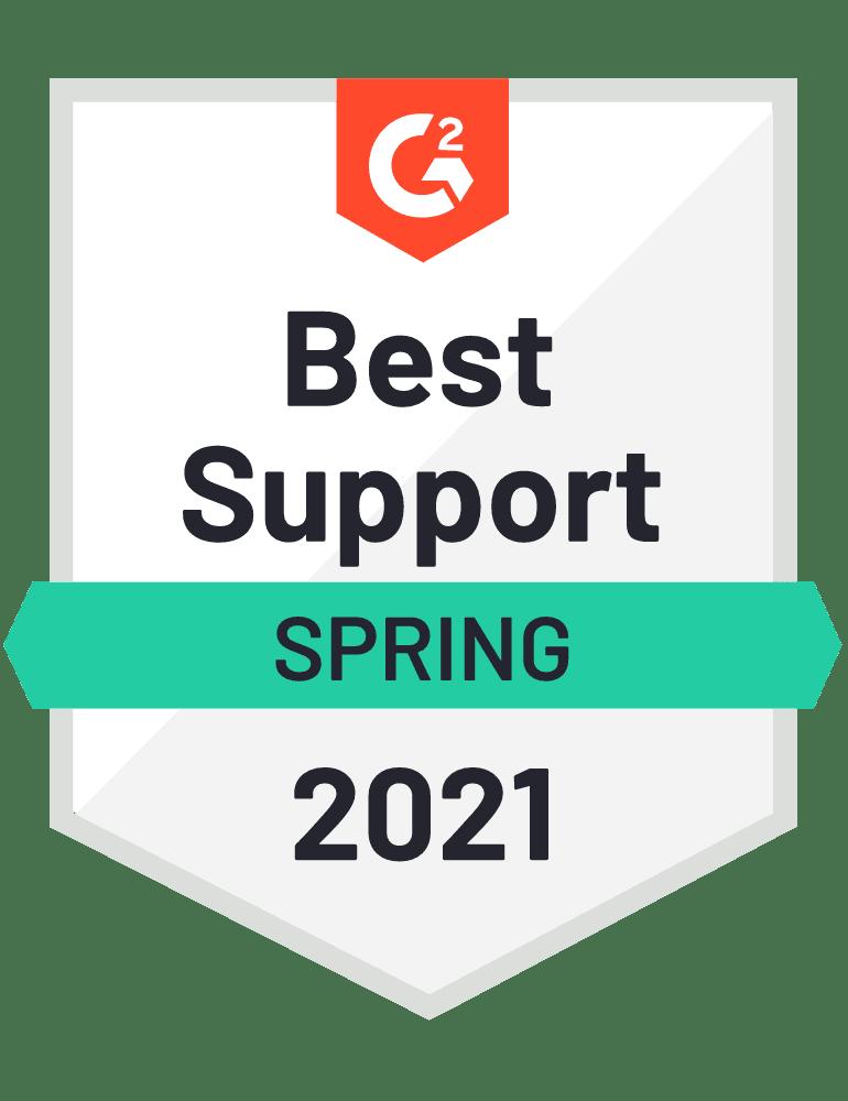 G2 Best Support Spring 2021 Badge