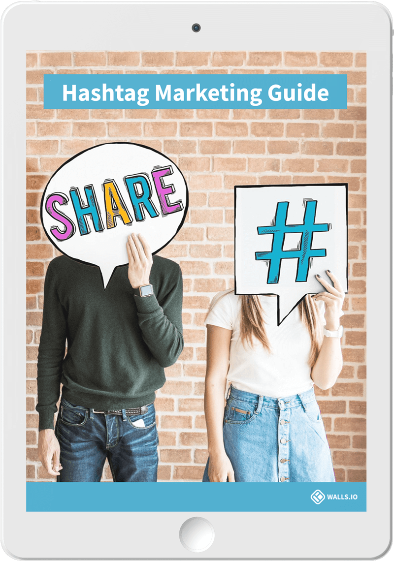 Hashtag Marketing Guide cover on a tablet