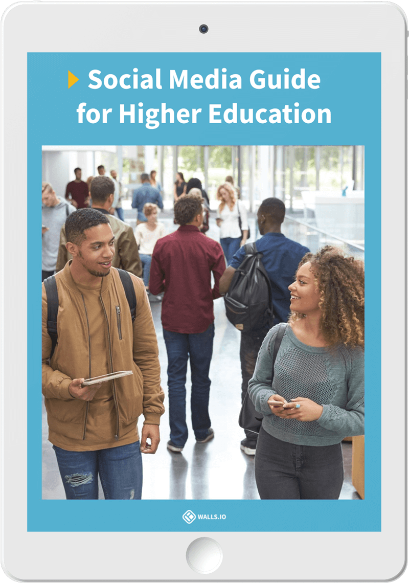 Social Media Guide for Higher Education cover on a tablet