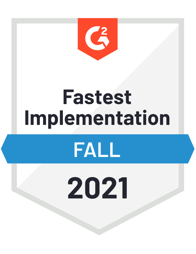 Badge G2 Fastest Implementation Fall 2021
