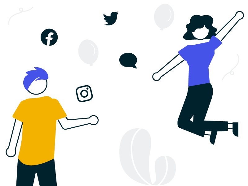 Social Wall for Private Events displayed on a laptop at a birthday party showing social posts with kids having fun