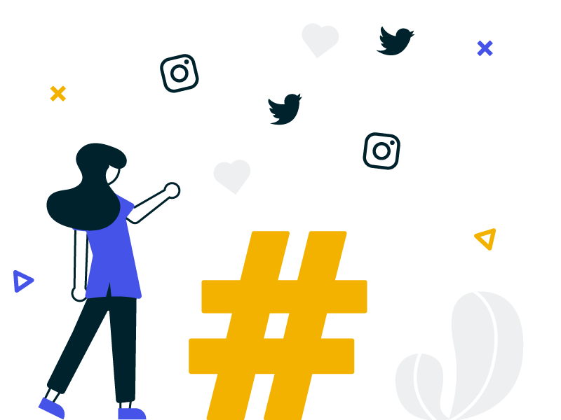 social wall as a solution for hashtag campaign example image showing a man's tattooed hand pointing to a hashtag sign post it on a wall