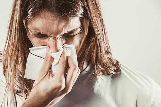 Chronic Sinusitis Sufferer with tissue