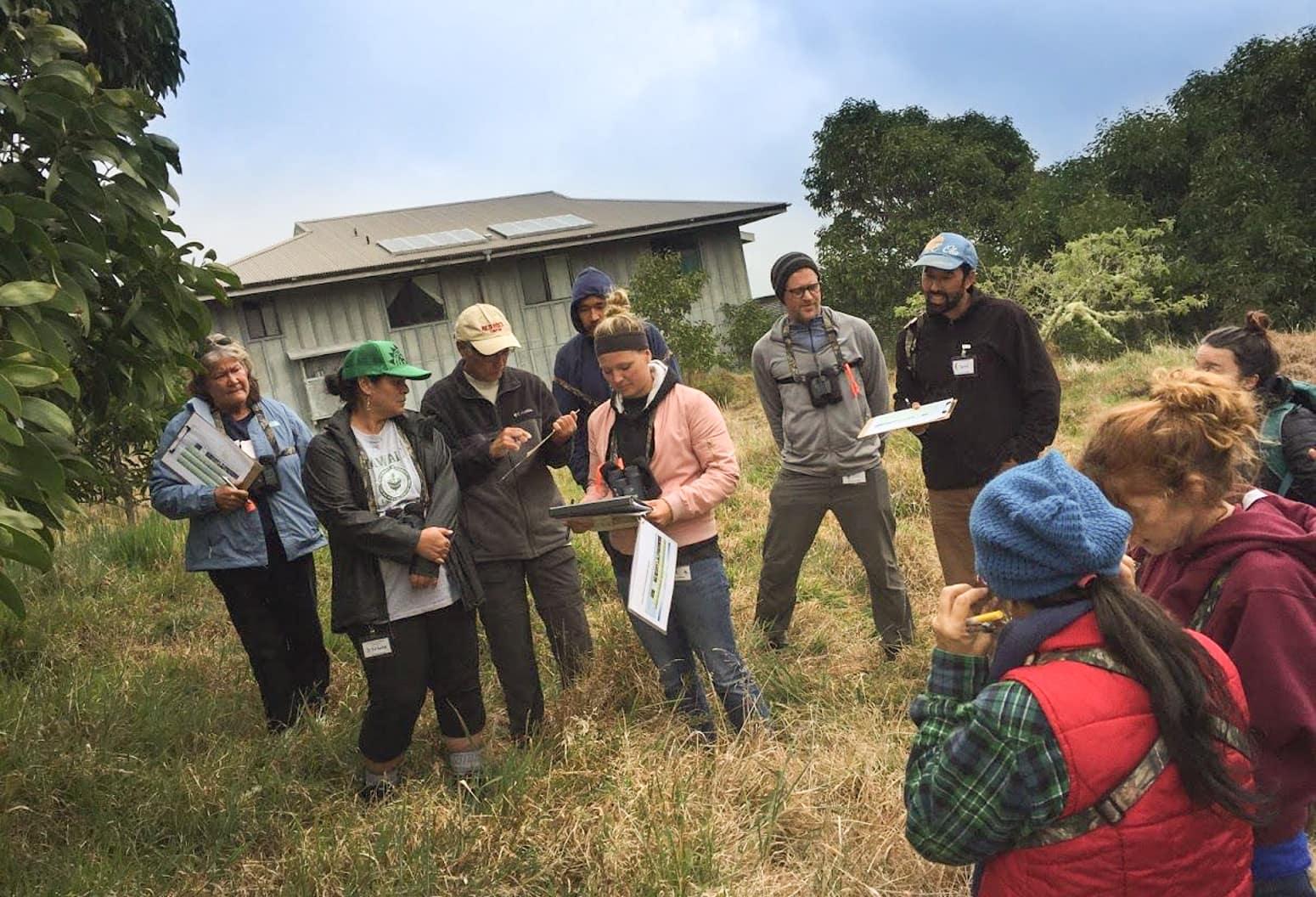 Group of teachers attending a workshop at Hakalau Forest National Wildlife Refuge
