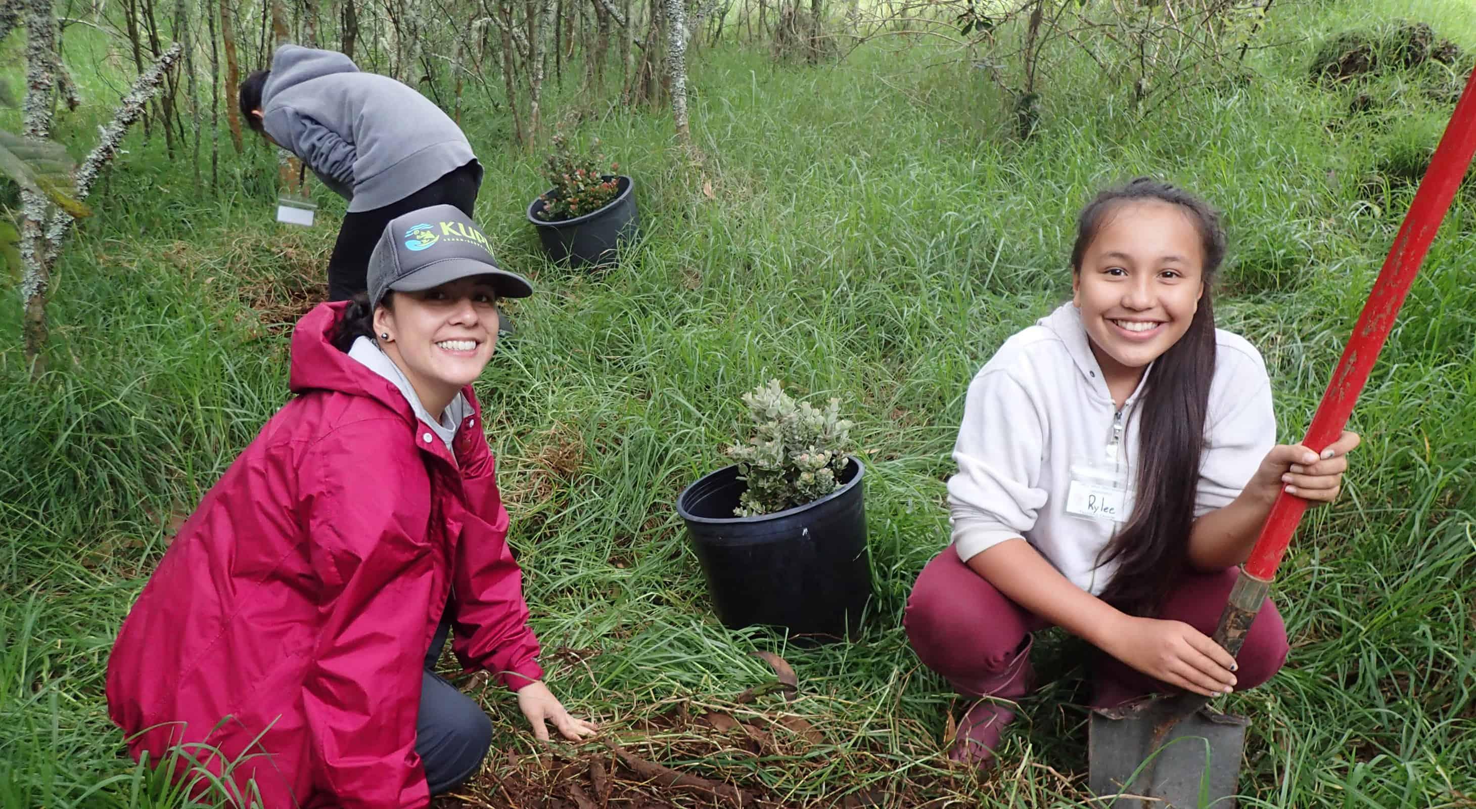 Students learn to malama plants in a nursery