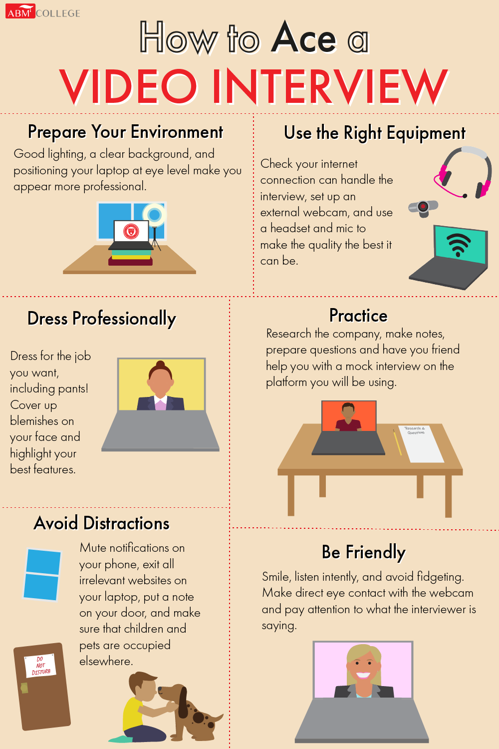 6 tips on how to ace video interview