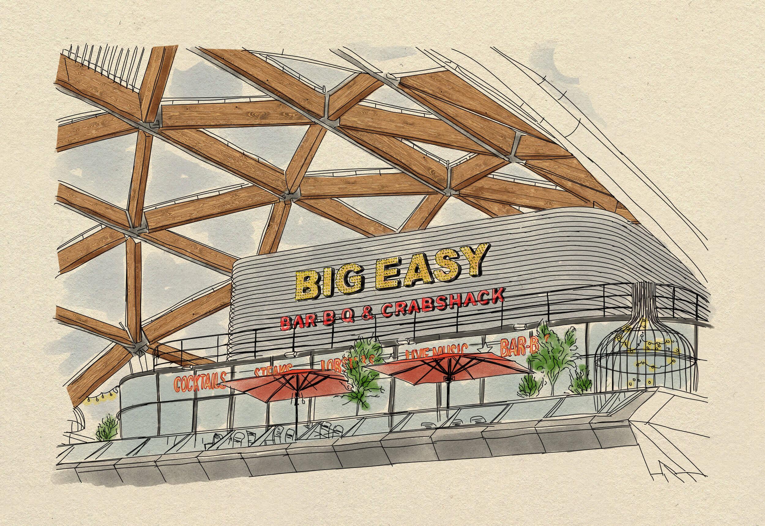 big easy canary wharf