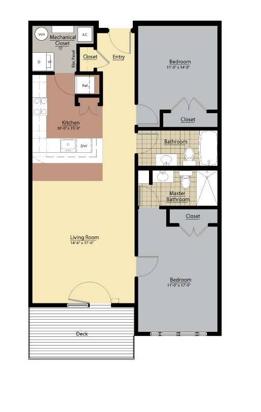 Penn Floor Plan at Doughboy Square Apartments