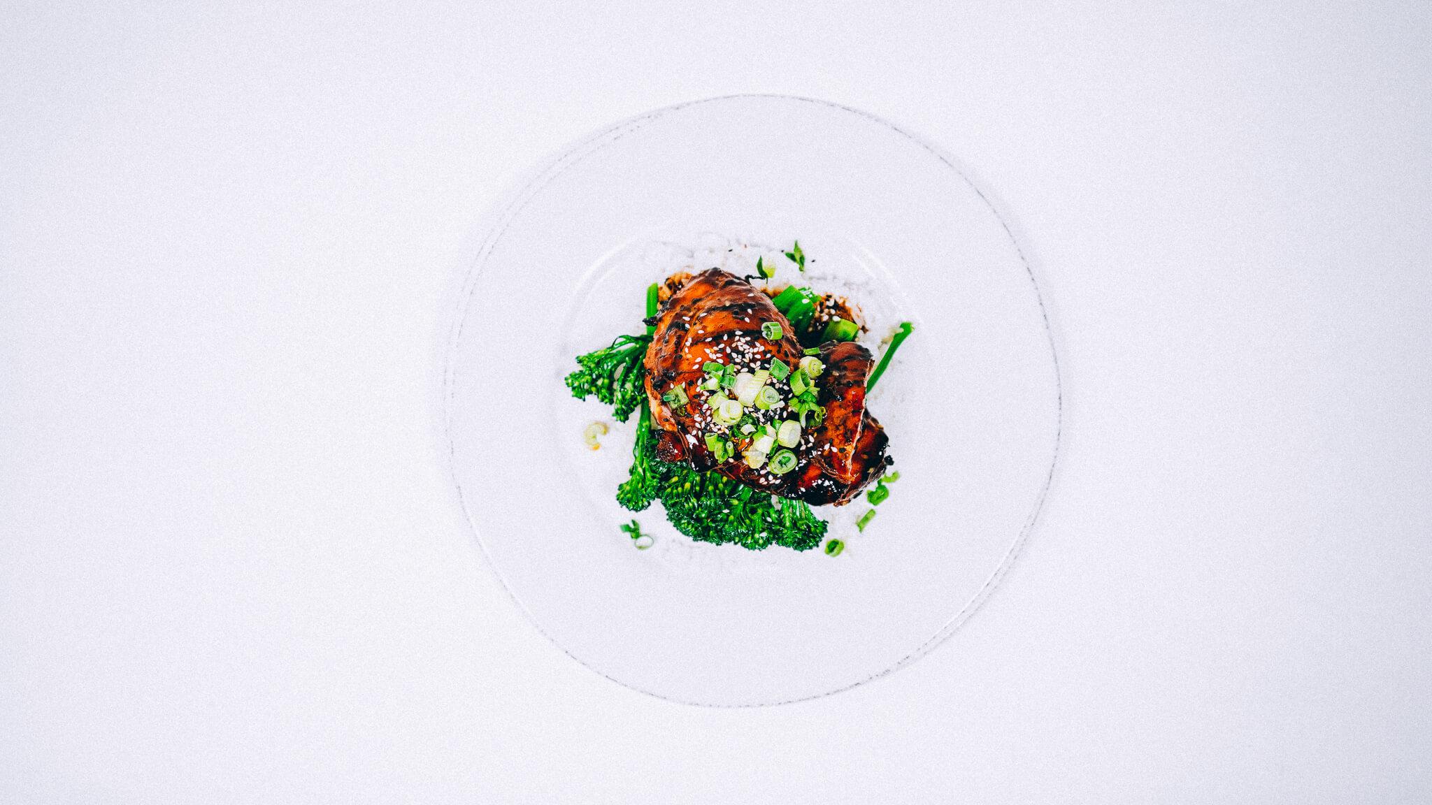 chimichurri steak with garnish