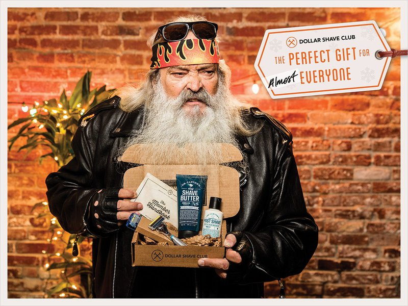 Dollar Shave Club ad with the perfect gift for ALMOST everyone
