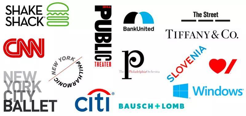 Logos by women designer Paula Scher