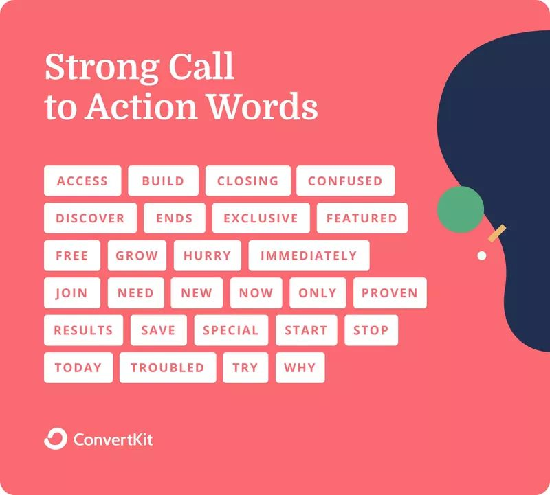 List of strong  call-to-action words