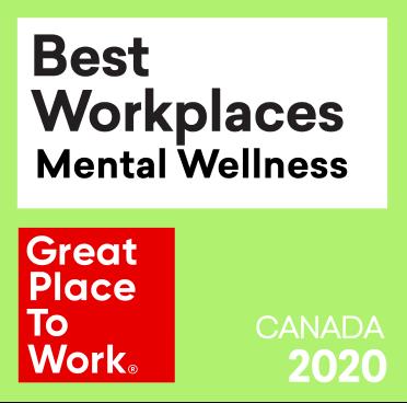 Best Workplaces - Mental Wellness award