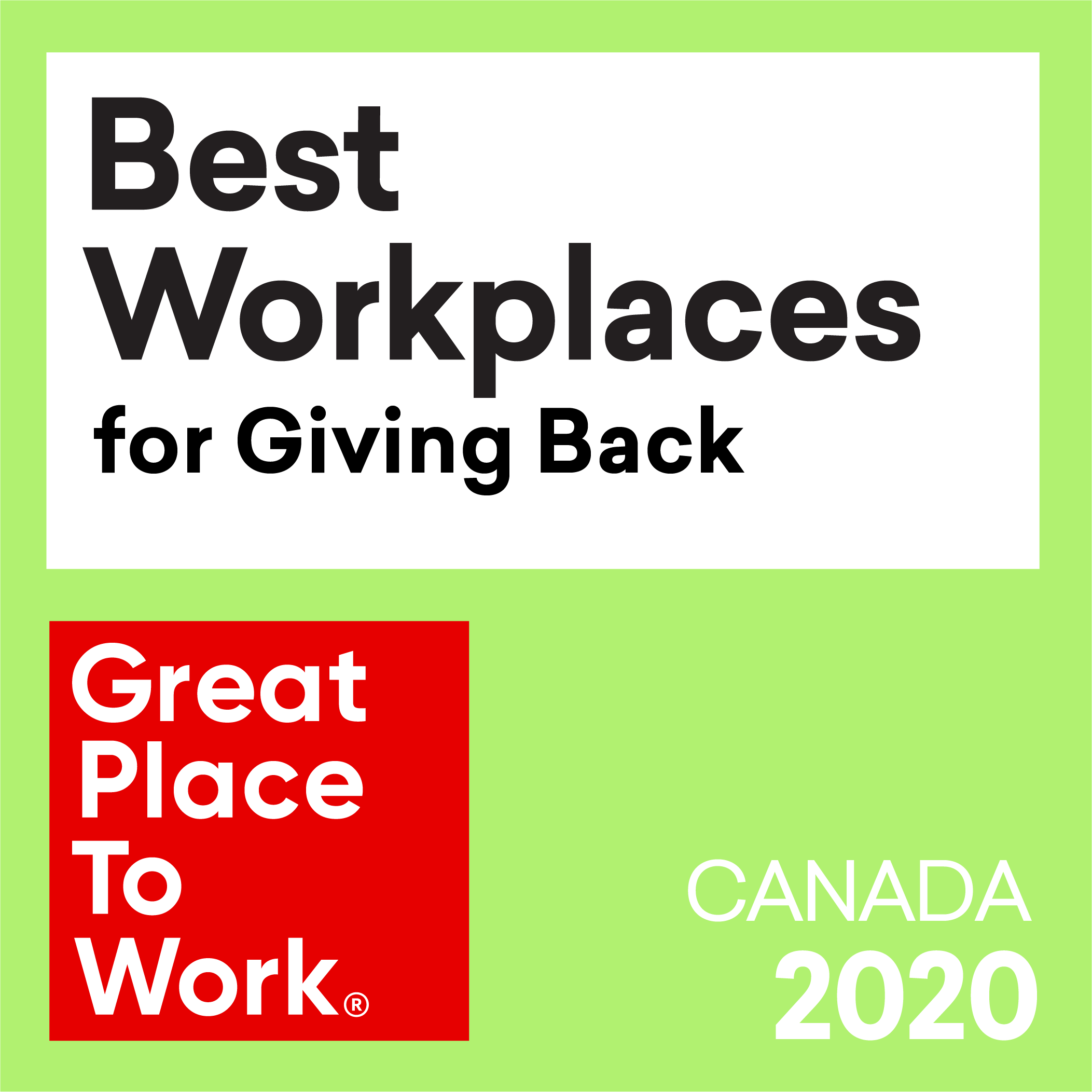 Best Workplaces for Giving Back award