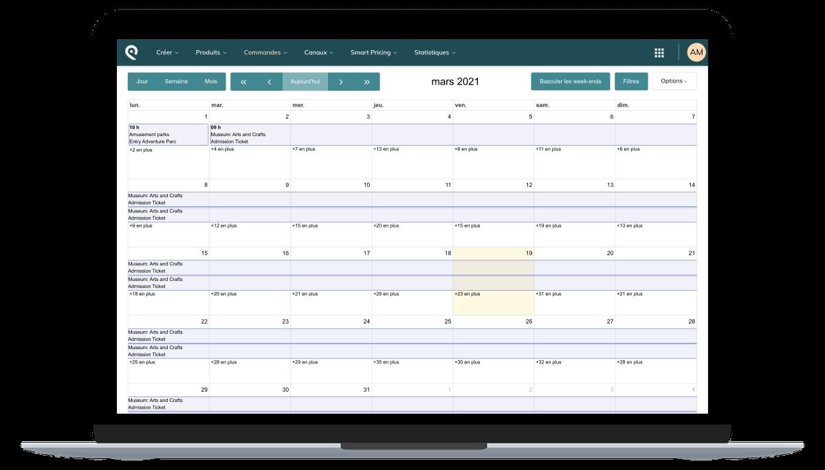 Bookings in Smeetz calendar view