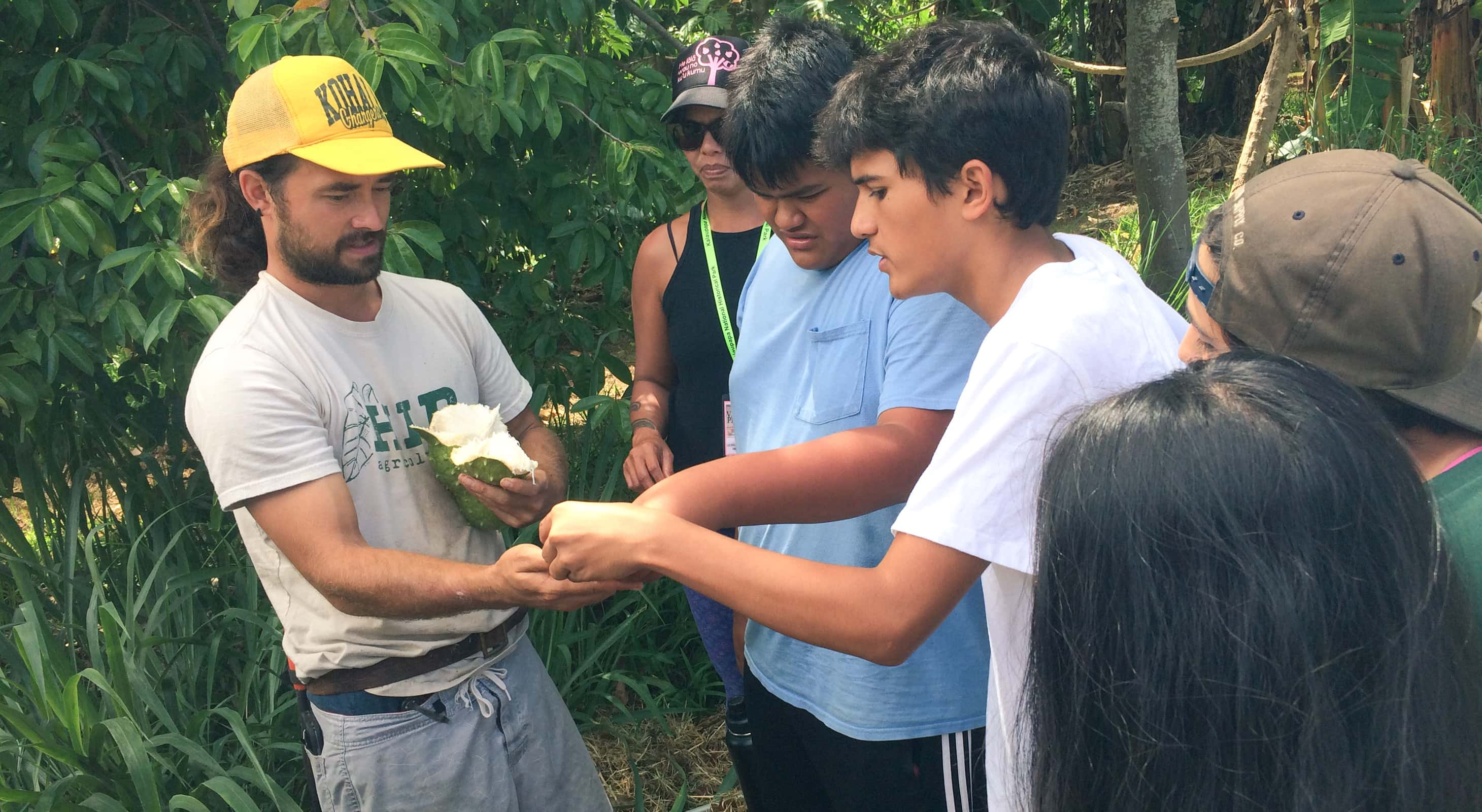 Summer immersion group at HIP Agriculture in Kohala