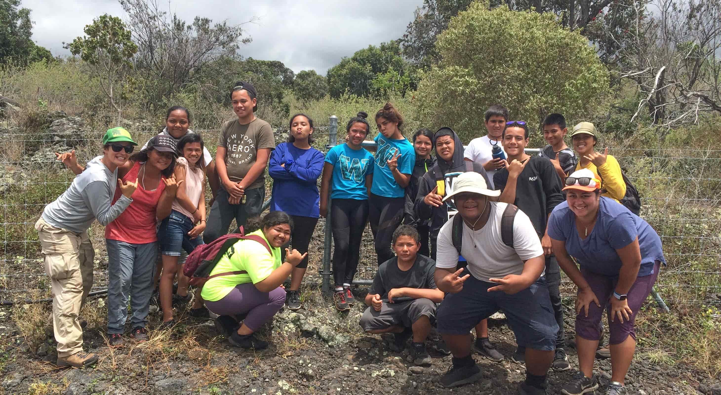 Teaching Change Summer Immersion group at Puʻuwaʻawaʻa