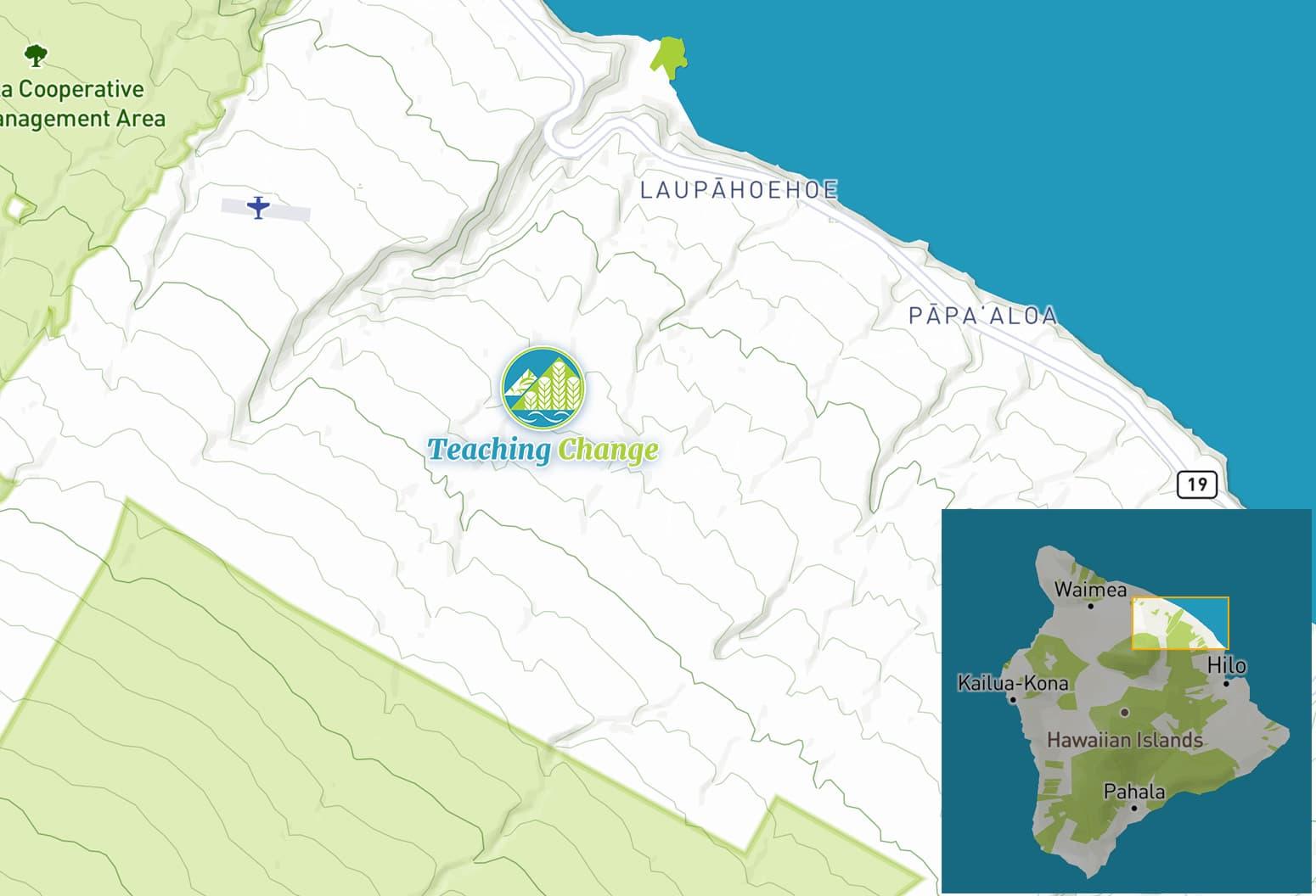 Laupahoehoe map