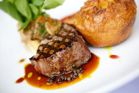 fillet steak with Yorkshire pudding