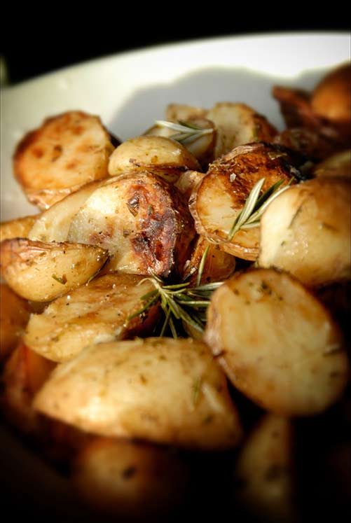 Potatoes on buffet