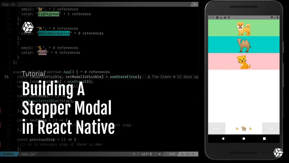 Build a stepper modal in React Native applications