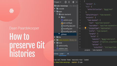 How to preserve Git histories when migrating existing Angular apps to Nx