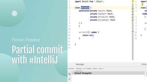 How to do a partial commit with #IntelliJ or any #JetBrains IDE