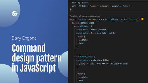 Command design pattern in JavaScript