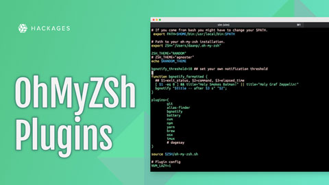 Not only can you use #OhMyZsh​ to make your ZSH look great, but it also has tons of useful plugins.